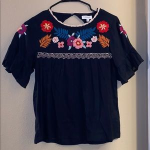THML Floral embroidered blouse